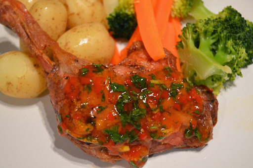 Duck Legs with an Orange & Chilli Glaze