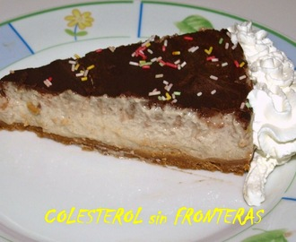 TARTA DE PLATANO Y CHOCOLATE (THERMOMIX)