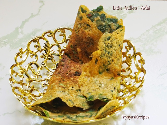 Little Millet Adai-Samai Adai - with drumstick leaves