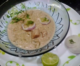 Hyderabadi shahi murgh korma | White Chicken Kurma recipe