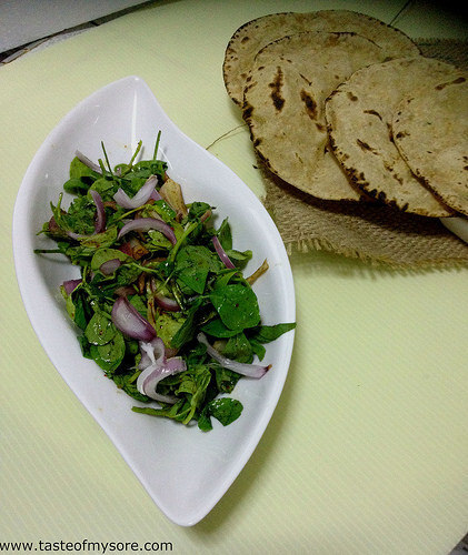 Methi Leaves Slaw / Fenugreek Leaves Salad