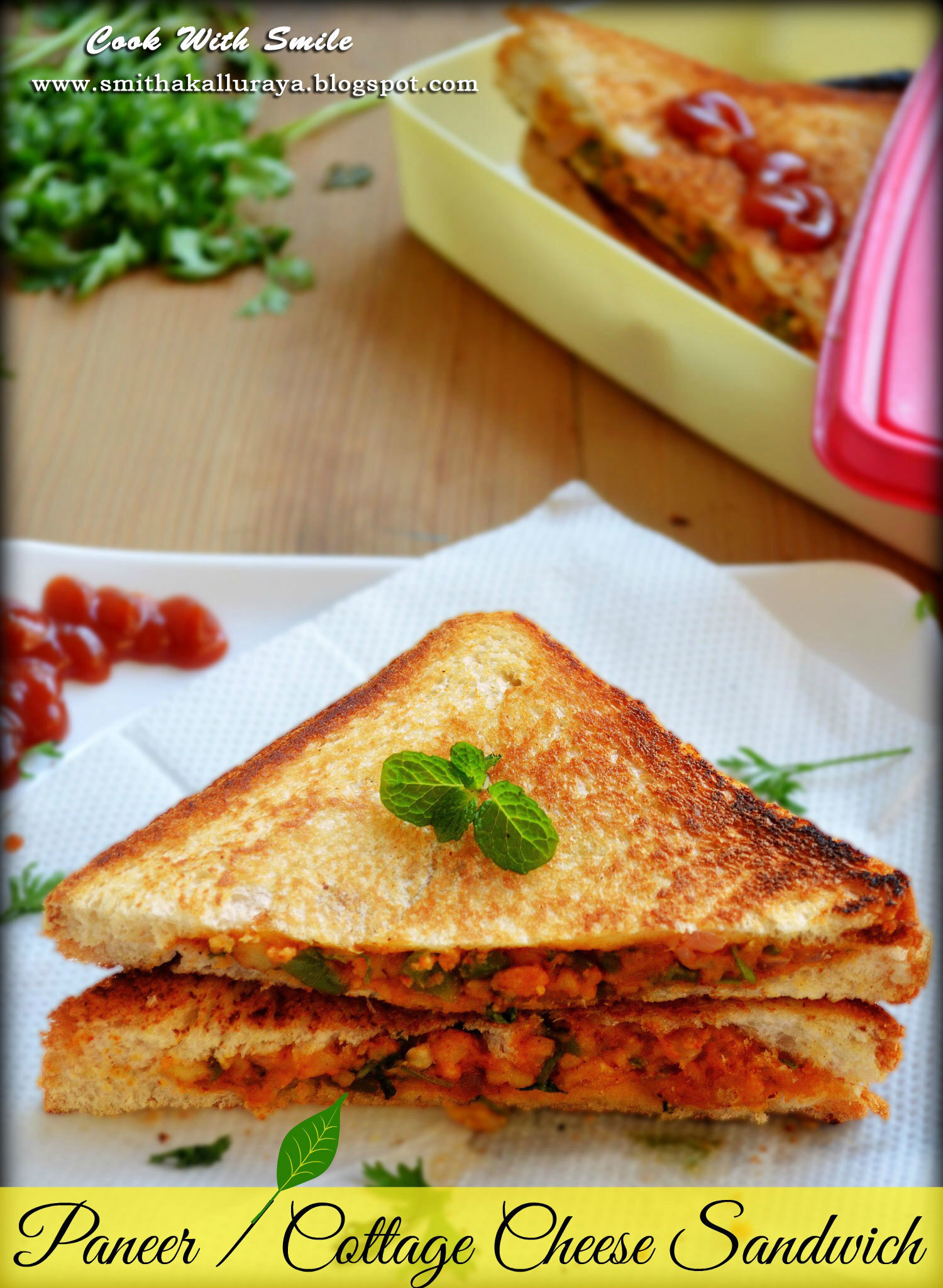 PANEER SANDWICH / VEG COTTAGE CHEESE SANDWICH
