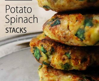 Potato Spinach Stack