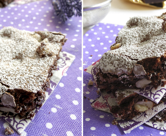 Brownies de Chocolate e Amendoim