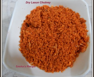 Dry Lasun Chutney - How to make Dry Lasun / Garlic Chutney