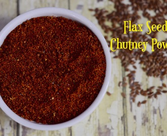 Flax Seeds Chutney Powder|Agase Chutney Pudi|How to make flax seeds garlic chutney powder