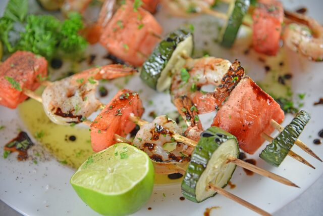 Watermelon Shrimp Kabobs