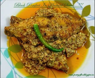Black Pomfret In Mustard Paste & Coconut Gravy...!!!