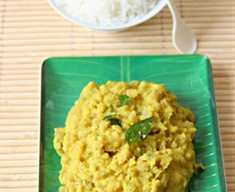 Vazhai Thandu Paruppu Kootu/ Banana Stem Dhal Curry