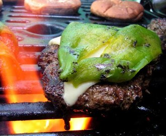 Roasted Green Chile Pepper Burger