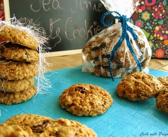 Oatmeal, raisins & choco chips cookies (Eggless & with eggs both version)