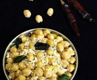 Kondakadalai Sundal (Chickpea Sundal or Channa Sundal Recipe)