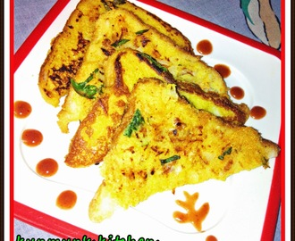 Veggie Bread Toast (Eggless) - A Toothsome Snacks For Vegetarian