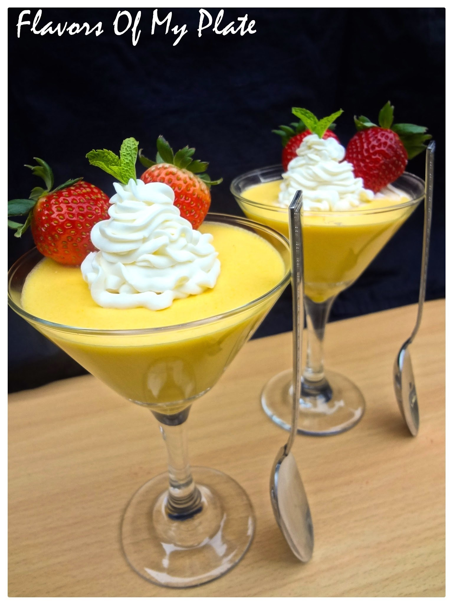 Eggless Mango Mousse....No Cook No Bake Mango Mousse
