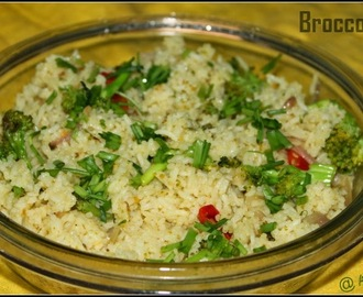 Broccoli Rice Using Maggie Noodles Masala