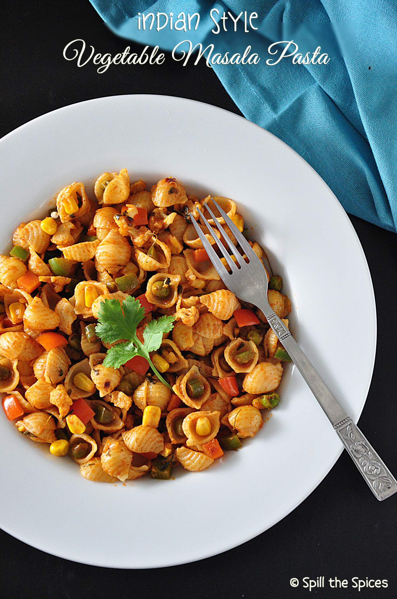 Indian Style Vegetable Masala Pasta