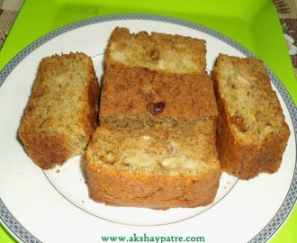Banana Cake Recipe  - Eggless Banana Cake
