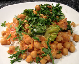 curry de pois chiches de Jamie Oliver