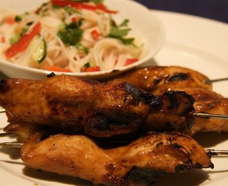 Chicken Hoisin Skewers with Noodle Salad