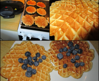 Waffles and blueberry