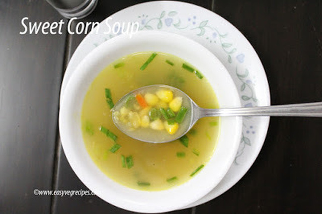 Sweet Corn Soup Recipe -- How to make Sweet Corn Soup