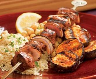 Turkish Lamb & Eggplant Kebabs