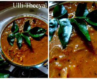 Ulli Theeyal      ( Kerala style Shallots in  Burnt Roasted Coconut Sauce )
