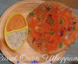 Carrot Onion Uthappam - Jackfruit 365 Review