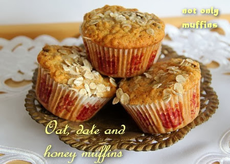 Oat, date and honey muffins