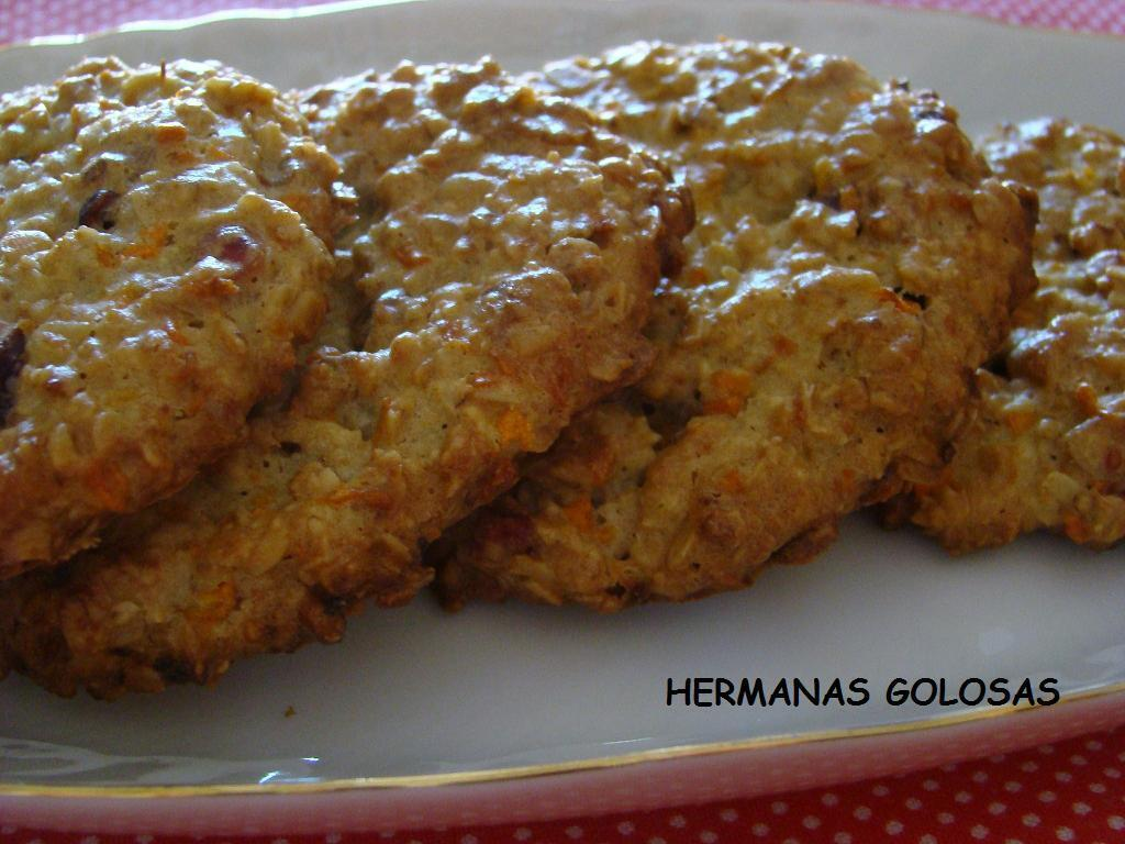 GALLETAS DE AVENA, ZANAHORIA Y FRUTOS SECOS