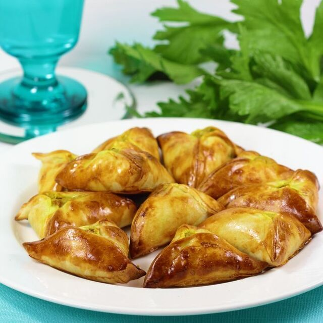 Empanadillas vegetarianas al curry