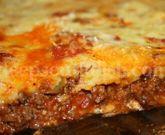 Image: Deep South Dish: Upside Down Deep Dish Pizza Casserole