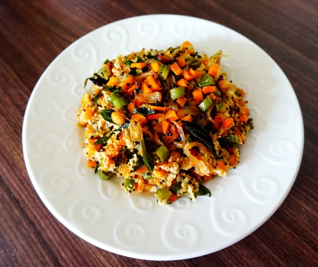 Recipe of vegetable Oats | Oats veggie upma