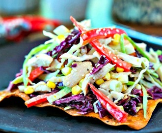 Asian Slaw with Egg Roll Crackers