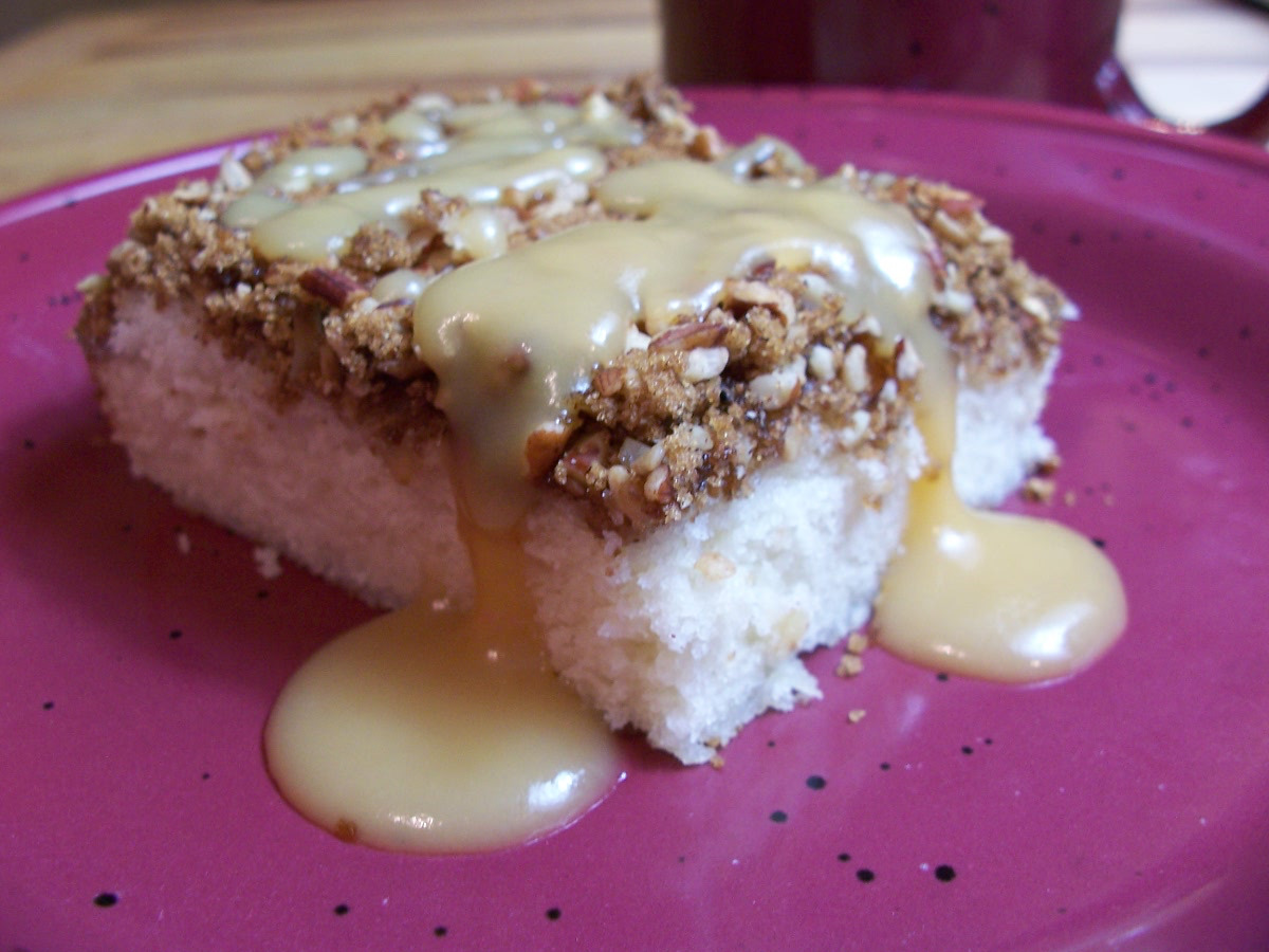 Easy Coffeecake Recipe with Brown Sugar Cinnamon and Pecans
