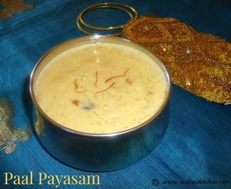 Paal Payasam Recipe / Pal Payasam / Rice Kheer / Rice Pudding Recipe