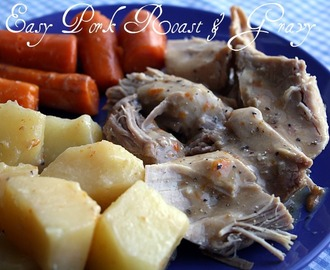 Slow Cooker Pork Roast & Gravy