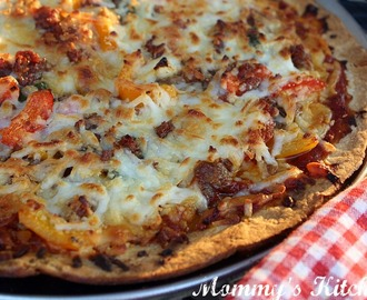 Easy Grilled Pizza {Italian Sausage & Veggie}