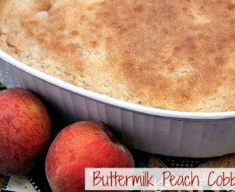 Buttermilk Peach Cobbler & Our Visit to the Peach Orchard