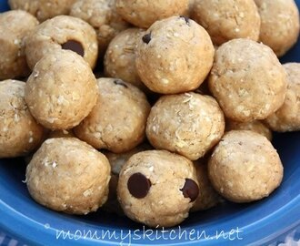 Cafeteria Peanut Butter Balls {Healthy}