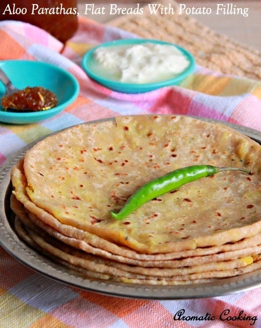 Aloo Parathas, Flat Breads With Potato Filling