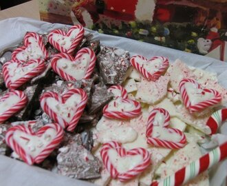 Peppermint Bark Hearts & Peppermint Bark
