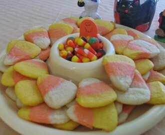 Happy Halloween ~  Candy Corn Cookies