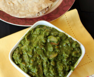 Diwani Handi - Mixed vegetable in Rich Spinach Gravy - Vegetarian Gravy - Vegetarian Side dish for fried rice or roti or naan or chapathi