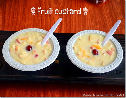 FRUIT CUSTARD RECIPE-CUSTARD POWDER RECIPES