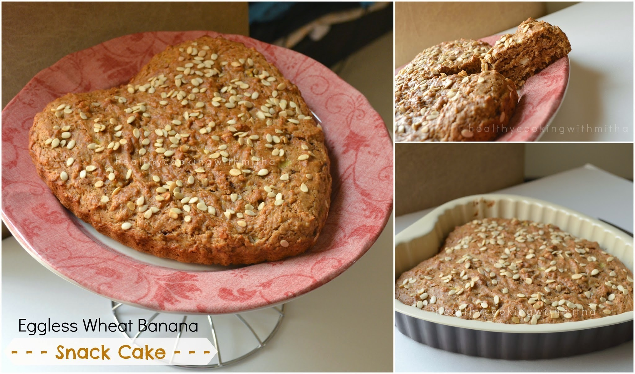 Eggless Wheat Banana Snack Cake | A Healthy & Delicious Bake
