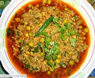 Mutton Keema Mattar (minced meat with peas)