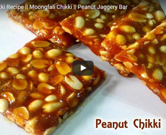 Peanut Chikki Recipe Video