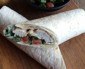 Lebanese Chicken Wraps