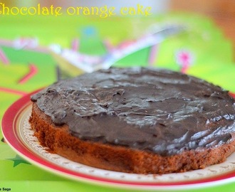 Chocolate orange cake with chocolate ganache- easy cake recipes